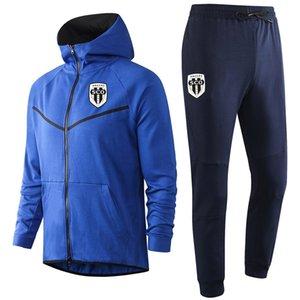 2020 Angers pantalon veste de football SCO costume formation 20 21 Angers SCO capuche manches longues de football de sport Survêtement ensembles Survêtements hommes
