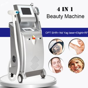 Q التبديل ND YAG آلة إزالة الوشم بالليزر SHR التقيد إزالة الشعر بالليزر E-الضوء IPL البشرة الفاتحة البقع شد الوجه غير الغازية