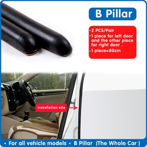 ar Wash & Maintenance Fillers, Adhesives & Sealants 2PCS Car Rubber Strip For Door B pillar Protection Strips Automobile Door Tr...