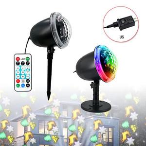 Convenient Snow Falling LED Moving Laser Projector LED Snowflake Landscape Garden Lamp Home Decor Supplies 9rkh#