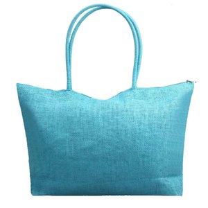 Bolsas para las mujeres 2020 de la venta caliente simple de la vendimia del color del caramelo de gran capacidad playa de la paja bolsas de hombro bolsa casual Leisurely