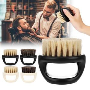 Horse Bristle Men Shaving Brush Plastic Portable Barber Beard Cleaning Appliance Shave Tool Razor Brush with Handle for Men