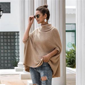 Botón mujeres suéter de cuello de tortuga Fahion apliques suéteres casuales color natural suéteres de manga larga de las mujeres Ropa de diseño