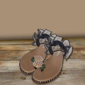 YOUYEDIAN Femmes Flip Flop Slip ouvert Toe fleurs Sandales En dentelle plat Slipper Casual Chaussures June.18