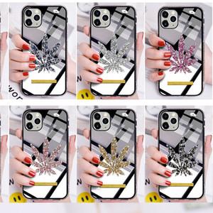 Glitter Diamante Glitter Gold Leaf telefone capa para iphone 11 Pro MAX 7 8 Plus X XR XS MAX SE2 Bling Sequins Capa