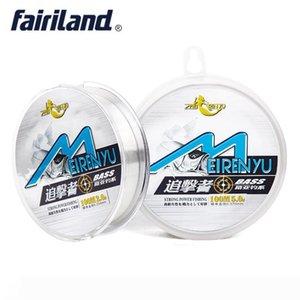 100m 109yd Fluorocarbon fishing line carbon fiber leader line 2-8# 8-35 TestLB monofilament nylon white line Japan imported fishing tackle