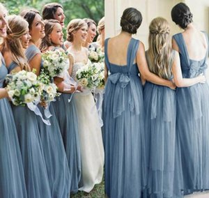 Setwell Sweetheart A-line Bridesmaid Dresses Sleeveless Sexy Backless Pleated Floor Length Wedding Guest Gowns With Bow