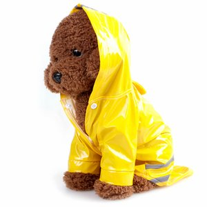 Pet Water Resistant Clothes Outdoor Puppy Dog Rain Coat for Dogs Cats 3 Colors M L Hoody Waterproof Dog Jackets Raincoats