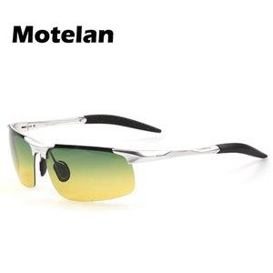 2020 Männer Day Night Vision Driving Gläser polarisierten Sonnenbrillen Aluminium Magnesium-Rahmen Herrenmode Polairsed Sonnenbrillen