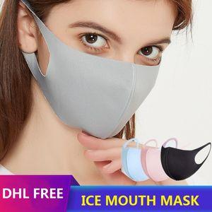 أقنعة PM2.5 الحرير الثلج 3D الوجه الفم غطاء مكافحة الغبار حماية للجنسين حزب نسيج قناع تنفس تنفس مكافحة الغبار قابل للغسل قناع