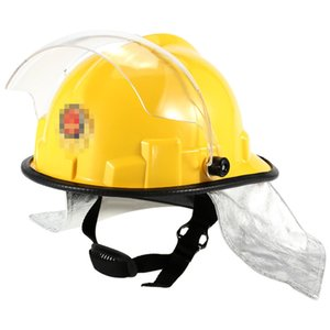 Fire Proof Fireman's Safety Helmet With Goggle Amice Electric Shock Prevention Flame-retardant Pierce Resistance Fire Fighting Helmet