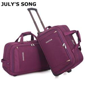 Para julio en SONG manera de las mujeres de la carretilla del equipaje del bolso del balanceo de la maleta Bolsa Bolsa de viaje con ruedas equipaje de mano Maleta CX200718