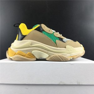 Cheap Multi Luxury Kids chunky dad Triple S Sneaker Kids TRAINERS Combination Soles Boots Tonal Mesh & Leather washed vintage effect