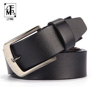 [LFMB] Männer Ledergürtel männlich Lederarmband Hose männlichen Bügels echte Gurtmänner ceinture homme cuir veritable