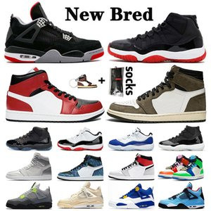Retro 11 bred travis scott 1 retro 4 jumpman Concord 11s space jam gamma blue Metallic Silver FIBA Männer Frauen Basketball Schuhe Concord 45 23 Turnschuhe