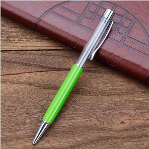 كتابة هدية diy أنبوب فارغة حبر جاف معدن الذاتي ملء بريق العائمة بريق مجففة زهرة الكريستال القلم أقلام 27 اللون