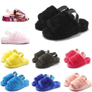 Mulheres Furry Chinelos Austrália crianças fluff sim deslizar sapatos casuais Moda Designer de Luxo Sandals Fur Slides Chinelos tamanho 36-44 mJsd #