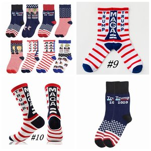 Trump 2020 Socks President MAGA Trump Letter Stockings Striped Stars US Flag Sports Socks MAGA Sock Party Favor CYZ2526