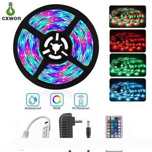 LED-Streifen-Lichter 5M Rollen 30LEDs M IP20 IP65 5050SMD RGB LED Streifen-Kit mit Adapter und Mini Controller