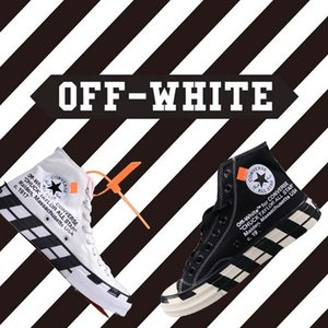 Off Whìtè x Cònversè Chuck TAYLÒR ALL-STAR 1970S Youth High Top Men Women Sneakers Canvas Running Canvas Shoes 36-45