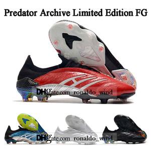 Envío gratuito para hombre de los tops zapatos de fútbol botas Predator Archivo Edición limitada FG Tacos de fútbol Predator Archivo FG fútbol al aire