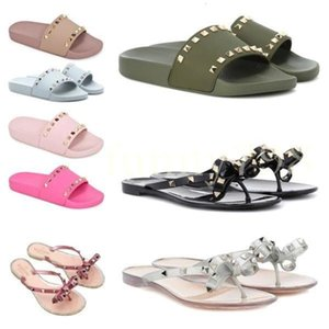 Designer Sandals And Slippers Comfortable Casual Slippers Flat Candy Color Chaussures Shoes Women