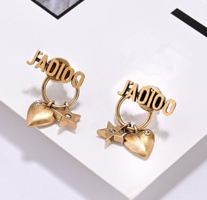 2020 new stud earrings fashion alphabet ladies earrings wholesale free shipping 05174