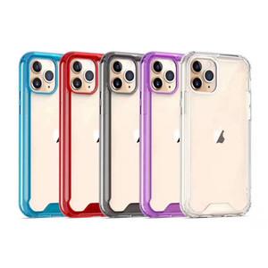 Caso à prova de choque Acrílico claro TPU PC para o iPhone 11 Pro Max XR XS MAX 7 8 Plus Samsung Nota 10 S10 S20 Além disso,