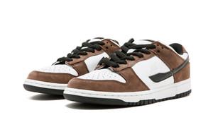 상자 2020 Sb를 덩크 낮은 남성 여성 캐주얼 신발 크기 4-11 새로운 Sb를 덩크 낮은 TRAIL END BROWN 삼바 어린이 스케이트 보드 신발