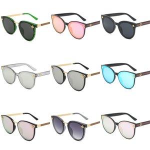 Diseñador de marcas de lujo sin montura gafas de sol para los hombres 2020 Moda de bambú de madera retro cuerno de búfalo Marrón Negro Claro lente de cristal Sunglas # 938