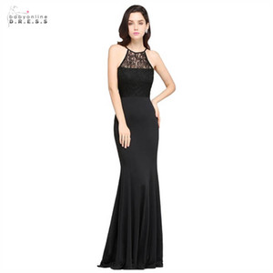 Babyonlindress Robe de soirée sexy longue sirène dos nu en dentelle robe élégante coupe-Halter robe de soirée Robe de Festa cps617