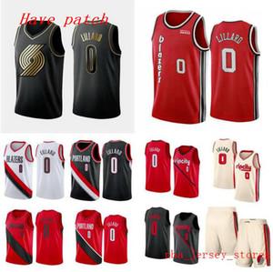 2020 Erkekler basketbol PortlandizBlazers0 DamienLillard siyah beyaz swingman kolsuz forması ve pantolon 001 kırmızı