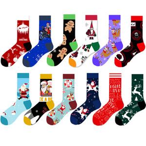 PEONFLY Homens mulher de algodão Casual Happy Socks Harajuku inverno hip hop engraçado coloridas meias de Natal engraçados do presente