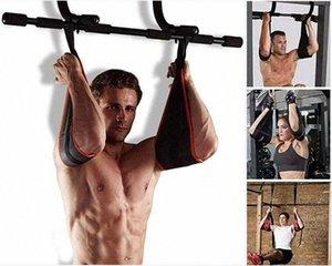 Home Fitness Gym AB Sling Correas flexiones abdominales entrenamiento de los músculos Colgando entrenamiento deporte de la correa Equipo Barra horizontal de la correa K184 #