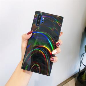Miroir arc-en-cas pour Samsung Galaxy S 7 8 9 10 10 Note pro Huawei 30 pro apparier Lite P30 cas Glitter souple TPU couverture arrière Capa