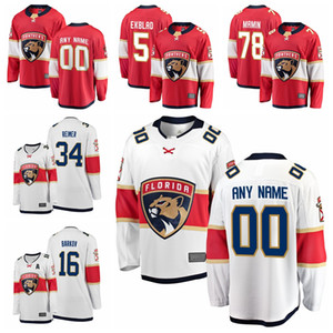 2020 Florida Panthers Jonathan Huberdeau Roberto Luongo Jersey Aleksander Barkov Aaron Ekblad Mike Hoffman hockey jerseys cosido personalizada