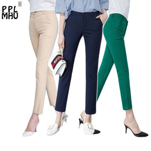 Women's Casual Candy Pencil Pants 2019 New arrival 95% Cotton Elastic Slim Skinny Pants Femal Women's Stretch Pencil Trousers T200727