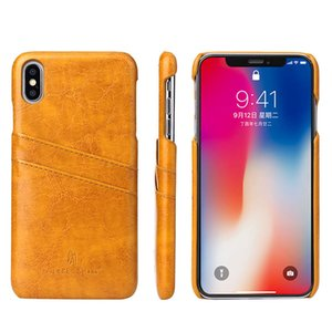 Luxury Retro Business Vintage Vegan Leather Dual Card Slots Wallet Clutch Cover for Samsung S8 S7 S9 Note8 Note9 iPhone 11 Pro 6s