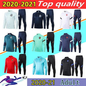 20/21 France Italie Belgique survêtement de football équipe nationale hommes Italy Belgium soccer tracksuit Portugal Brazil Spain Allemagne survetement foot survêtement de jogging