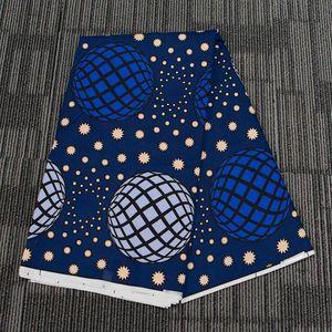 Ткань Африка Farbic 100% полиэстер Wax печати Материал Синий Сферическая 6 ярдов / серия Ankare для Handwrok Sewig