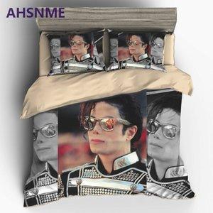AHSNME Classic Superstar MJ Home Textile Mike Jackson Live Style Sanding Polyester 2 3pcs Bedding Set Duvet Cover Bedding set