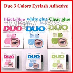 Duo nouvelle arrivée Cils Adhésifs Cils colle pinceau sur blanc de Adhésifs / clair / noir / 5g nouvel emballage Outils de maquillage
