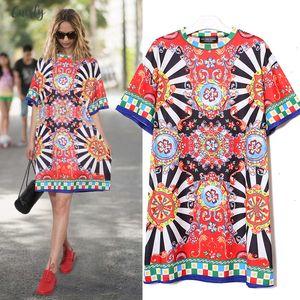 2020 Summer Women Black Floral Printed Beach Dress Short Sleeve Girls Cute Straight Sundress Midi V Neck Sun Dresses Vestido Style 2162