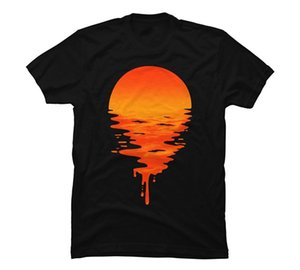 Men fashion trends fitness tshirt free shipping Sunset 6 Male Slim Fit t shirt Man T-shirts Casual T-Shirts