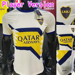 Spieler Version 20 21 Boca Juniors Maillot de Foot Fussball Jersey Salvio Tevez de Rossi 2020 2021 Maradona Football Hemd Männer Kinder Camiseta