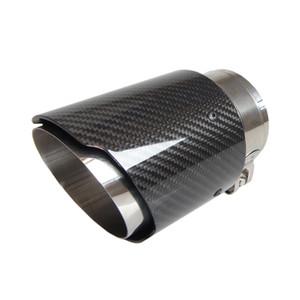 NO LOGO 아크로 포빅 스타일 탄소 섬유 자동차 배기 팁 머플러의 테일 파이프 없습니다 광택 블랙 컬러