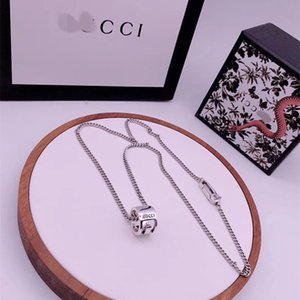 Gujia 925 sterling silver G pendant couple necklace snake bone ring men's and women's pendant necklace