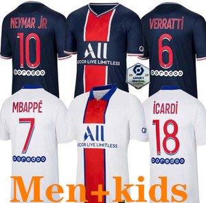 Maillots de football kits 19 20 21 Paris soccer jersey 2019 2020 2021 MBAPPE ICARDI 4th shirt men kids set maillot de foot hommes enfants