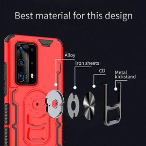 cassa del telefono per Huawei P40 Pro / P40 Pro plustpu + PC + metallo Cavalletto casi di telefono funzione di progettista magnetici regalo di Natale