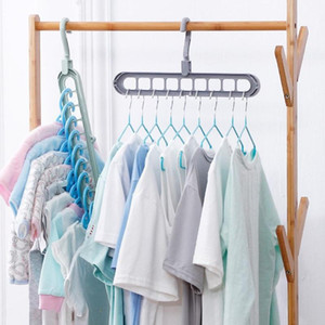 ماجيك متعدد الميناء دعم المعلقون لتجفيف الملابس الرف متعددة الوظائف الملابس البلاستيك الرف تجفيف شماعات التخزين المعلقون